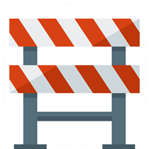 construction barrier icon by iconexperience.com